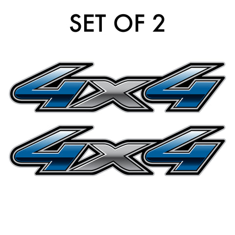 Set of 2: 4X4 full color decal fits 2019 Dodge Ram 1500 Big Horn pickup truck bedside - US Rallystripes