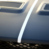 3D textured black carbon fiber twin stripes w/ 1 inch gap - US Rallystripes