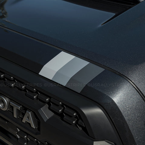 TRD monochrome stripe top grille pre-cut vinyl sticker fits 2016-2020 Toyota Tacoma - US Rallystripes