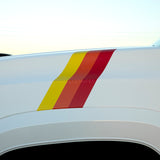 Classic TRD tri-color racing stripes for 3rd Generation Toyota Tacoma - US Rallystripes