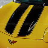 Racing stripes pre-cut decal set fits Chevrolet Corvette C5 fastback coupé 1997-2004 - US Rallystripes