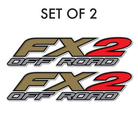 Set of 2: FX2 Off Road pre-cut decal for pickup truck bedside - US Rallystripes