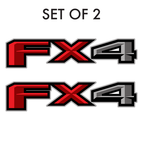 Set of 2:  FX4 vinyl decal for 2017-2019 Ford F-150 pickup truck bedside - US Rallystripes