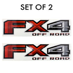 Set of 2: 2017-19 Ford F-150 FX4 off road vinyl decal for pickup truck bedside - US Rallystripes