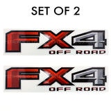 Set of 2: FX4 off-road vinyl decal for 2015-2020 Ford F-150 pickup truck bedside - US Rallystripes