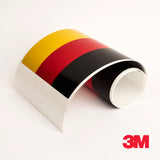 3M Germany flag racing stripe for BMW M3 Porsche VW Mini Audi car decal sticker - US Rallystripes