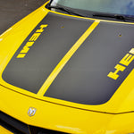 HEMI style hood stripes pre-cut decal set for Dodge Charger 2006-2010 - US Rallystripes