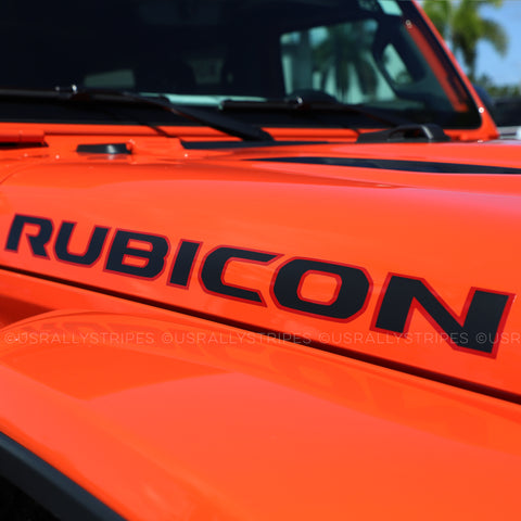 Rubicon hood decal set fits 2019-2020 Jeep Wrangler - US Rallystripes