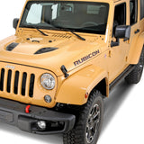Rubicon hood decal set fits Jeep Wrangler | 10th Anniversary - US Rallystripes