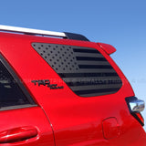 Set of 2: American flag decal for Toyota 4Runner 5th Generation side windows - US Rallystripes