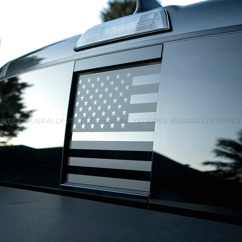 Rear window slider American flag decal fits 2016-2020 Toyota Tacoma - US Rallystripes