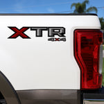 Set of 2: XTR 4X4 vinyl decal for 2017-2019 Ford F-150 F-250 pickup truck bedside - US Rallystripes