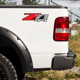 Set of 2: Z71 4x4 sticker for 2007-2013 Chevrolet Silverado GMC Sierra pickup truck bedside - US Rallystripes