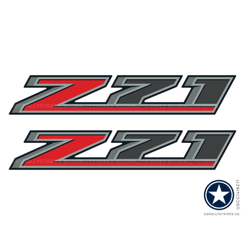 Set of 2: Z71 decal for 2014-2019 Chevrolet Colorado bedside OEM specs - US Rallystripes