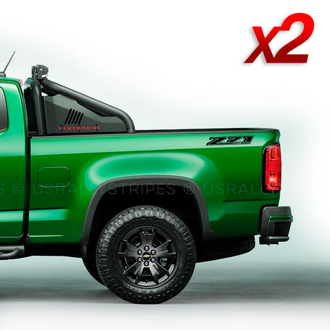 Z71 off-road decal set for 2014-2019 Chevrolet Colorado pickup truck bedside - US Rallystripes