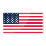 "Reflective 6"" USA flag nighttime visible sticker - US Rallystripes"