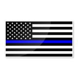 "Reflective 6"" USA thin blue line flag nighttime visible sticker - US Rallystripes"