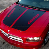 Hood stripes w/ CHARGER cut-out pre-cut decal set fits Dodge 2006-2010 - US Rallystripes