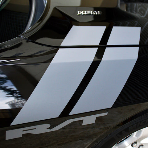 Dodge RT Challenger fender side hash marks racing stripes - US Rallystripes