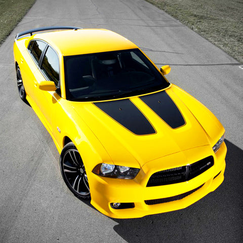 Dodge Charger 2011-2014 hood insert vinyl decals non SRT8 hood - US Rallystripes