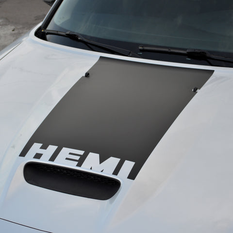 Hood scoop top blackout pre-cut decal w/ HEMI cut-out fits Dodge Charger SRT8 2006-10 - US Rallystripes