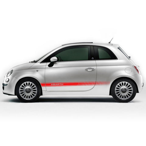 Fiat 500 2007 & Up ABARTH style pre-cut side decal set - US Rallystripes