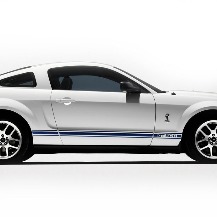 Ford Mustang 2005-2009 GT 500 style rocker panel side body stripes - US Rallystripes