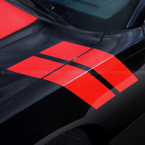 Pre-cut hash marks decal set fits Dodge Charger 2015-2019 - US Rallystripes