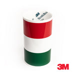 3M Italy flag racing stripe for Lamborghini Maserati Ferrari car decal sticker - US Rallystripes