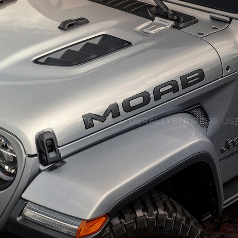 MOAB hood decal set w/ outline fits 2019 Jeep Wrangler - US Rallystripes