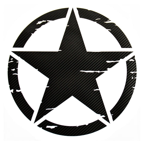 Distressed military star pre-cut decal fits Jeep 1989 & up - US Rallystripes