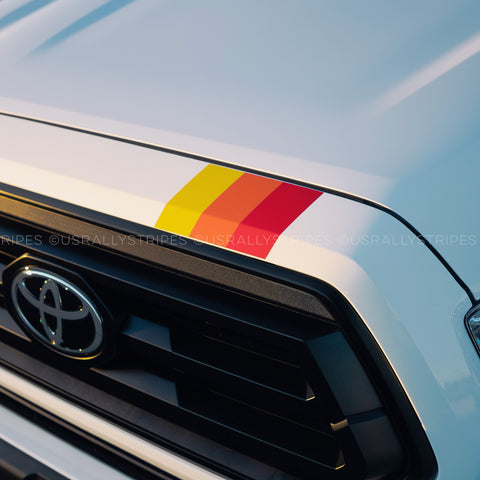 TRD tri-color stripe top grille pre-cut vinyl sticker fits 2016-2020 Toyota Tacoma 3rd Gen - US Rallystripes