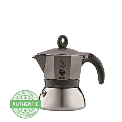 Bialetti Moka Induction Anthracite 3 cup