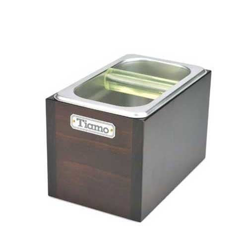 Tiamo Knock Box with Wooden Case (BC2407)