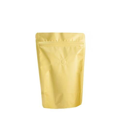 Coffee Bag 250G Standup Zipper Pouch (Gold)