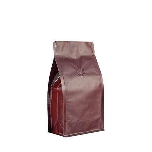Coffee Bag 250G Box Pouch (Brown)