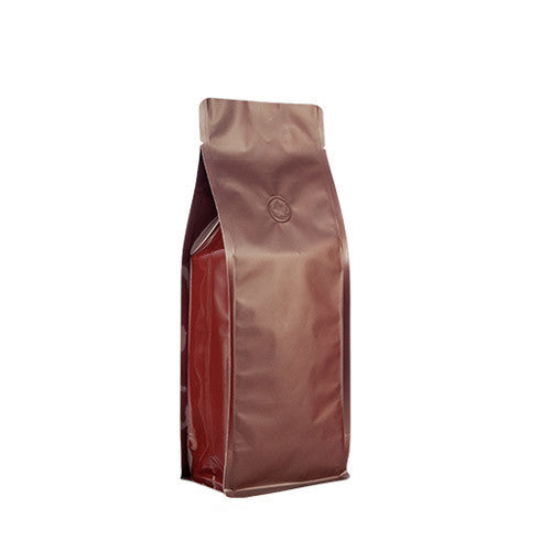 Coffee Bag 500G Box Pouch (Brown)