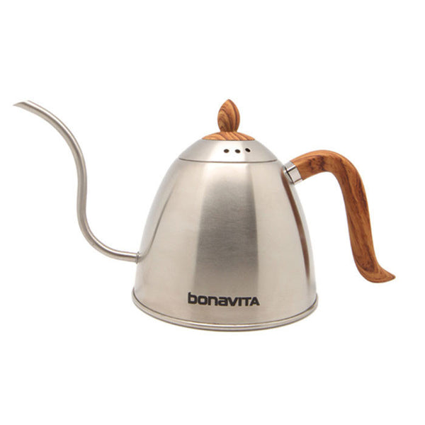 Bonavita - Stovetop Gooseneck Kettle with Wood Grain Handle and Lid 1000ml (BV382610STW)
