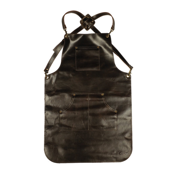 Apron Leather Dark Brown