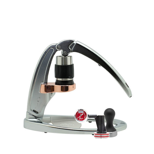 Flair - Espresso Maker (Signature Chrome) with Pressure Kit and Tamper