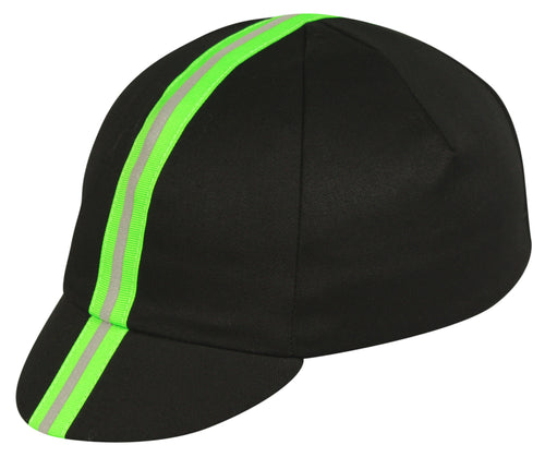 Traditional Cap Reflective - Neon Green Ribbon