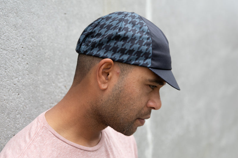 Houndstooth Hex-Tek Cycling Cap