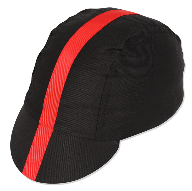 Classic Cycling Cap - Blk/Red