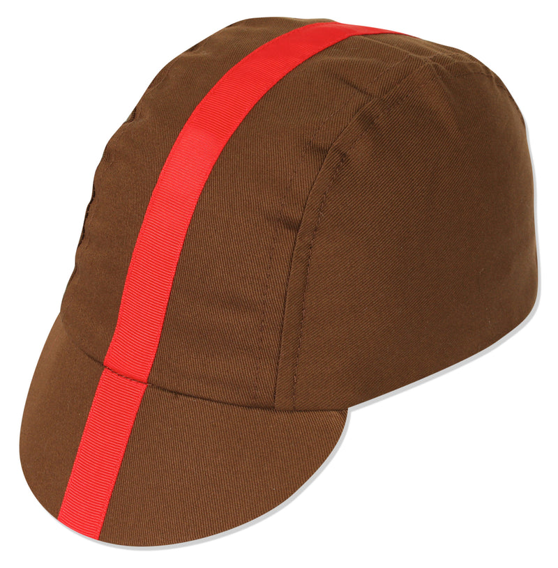 Classic Cycling Cap - Choc/Red