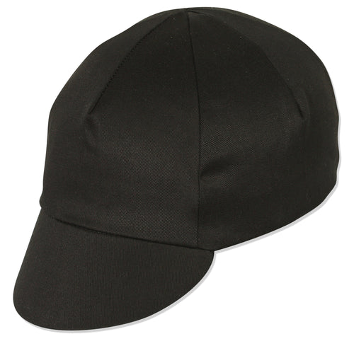 Traditional Cycling Cap - Black XL