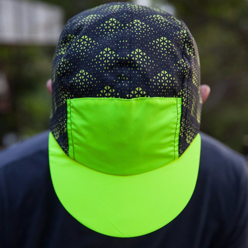 Deluxe Running Cap - Black/Hi-Viz Yellow