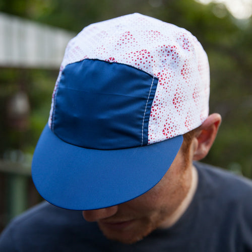 Deluxe Running Cap - White/Navy