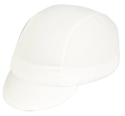 White CoolMax Cycling Cap