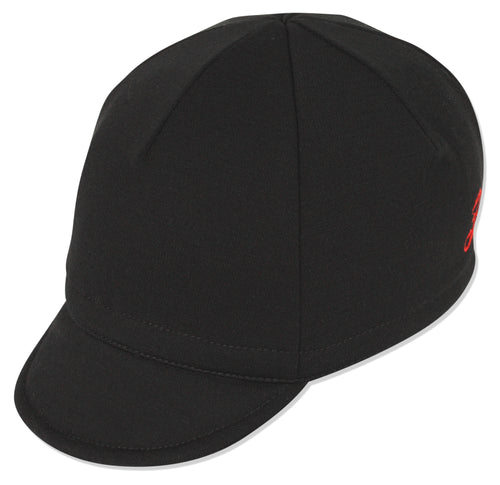 Wool Euro Cycling Cap - Black