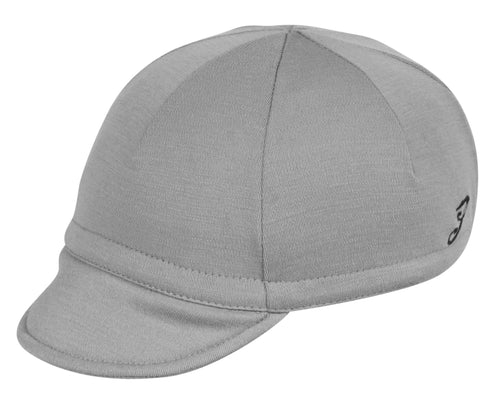 Wool Euro Cycling Cap - Silver